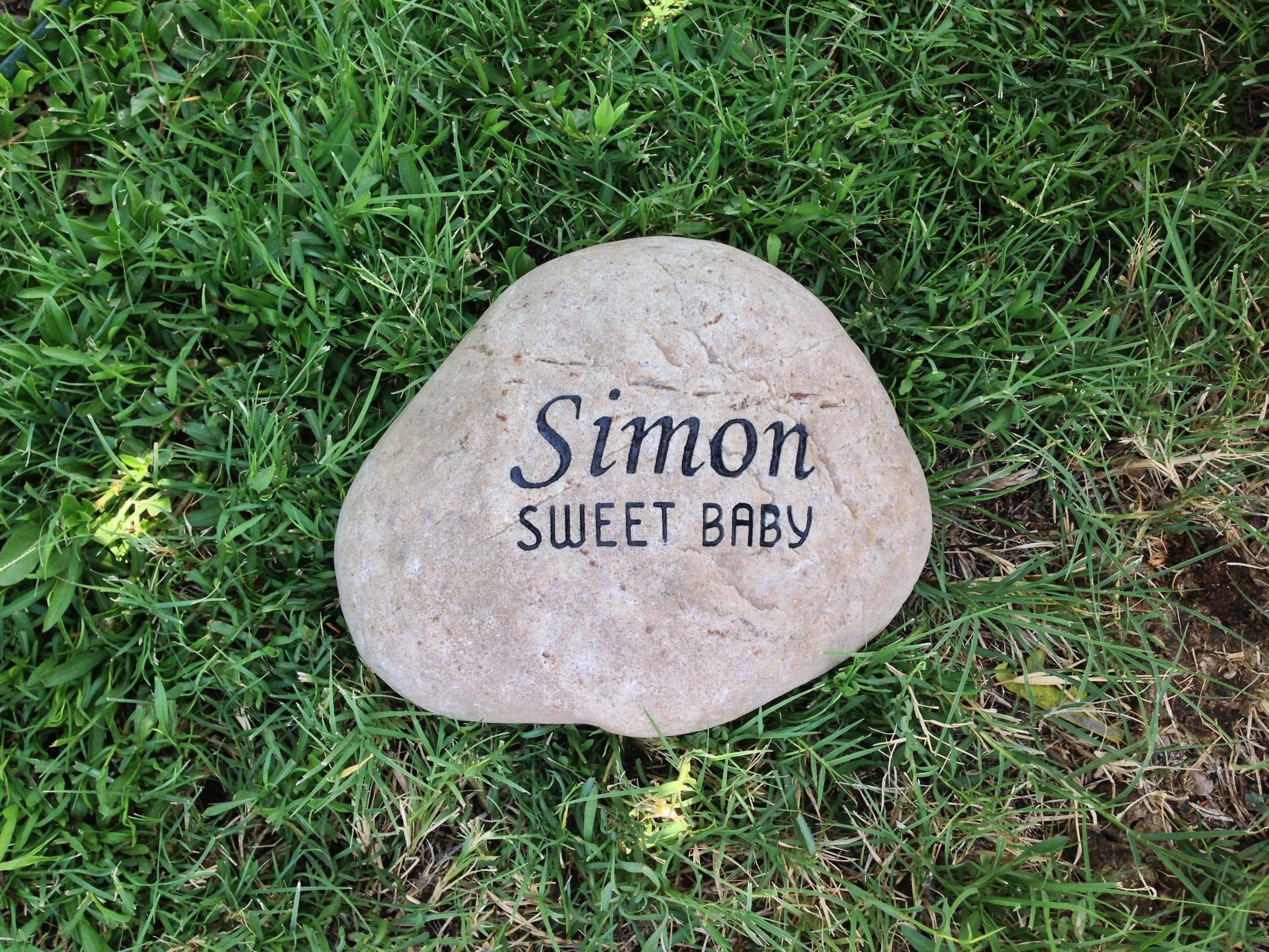 Simon Pet Memorial Garden Stone