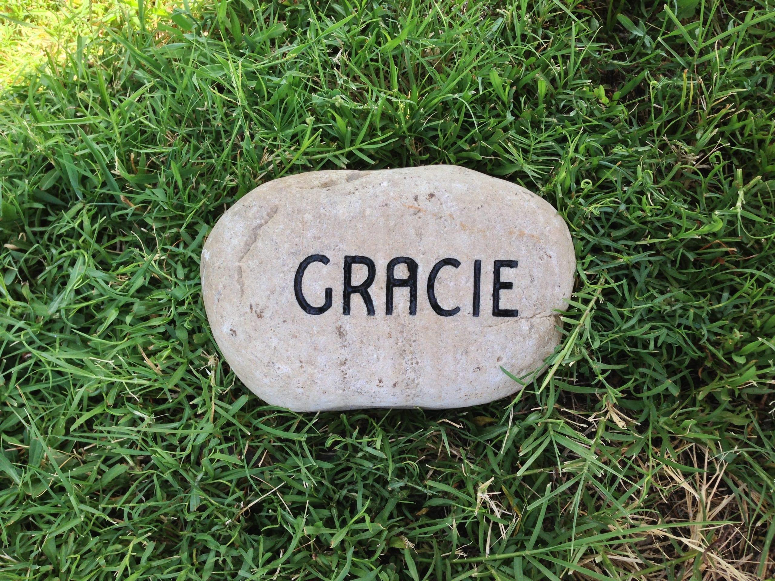 Gracie Pet Memorial Garden Stone