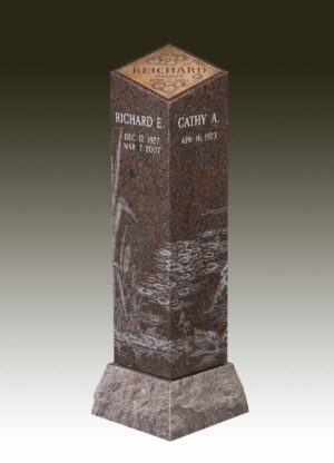 Cremation Post with Plaque