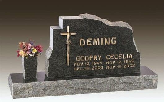 Deming Custom Upright Headstone