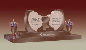 Petermeier Heart Custom Headstone