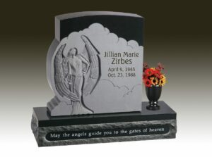 Zirbes Carved Upright Headstone