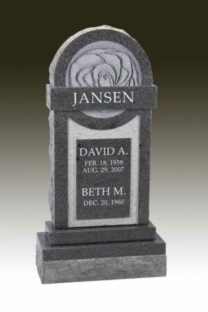 Jansen Carved Rose Gravestone