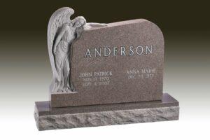 Anderson Angel Embrace Headstone