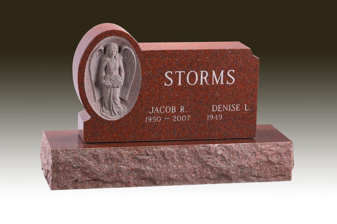 Storms Carved Angel Gravestone