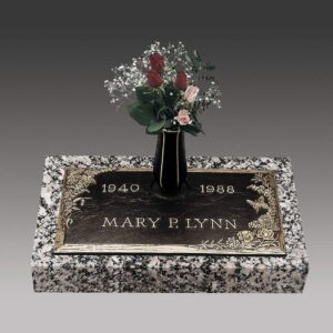 Lynn Butterfly Bronze Gravestone