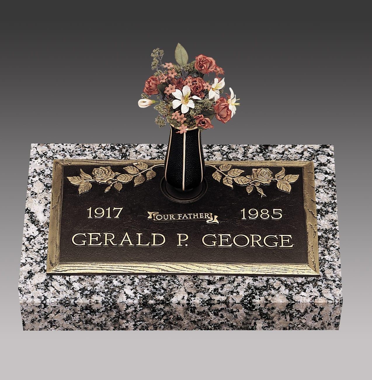 George Rose Bronze Headstone