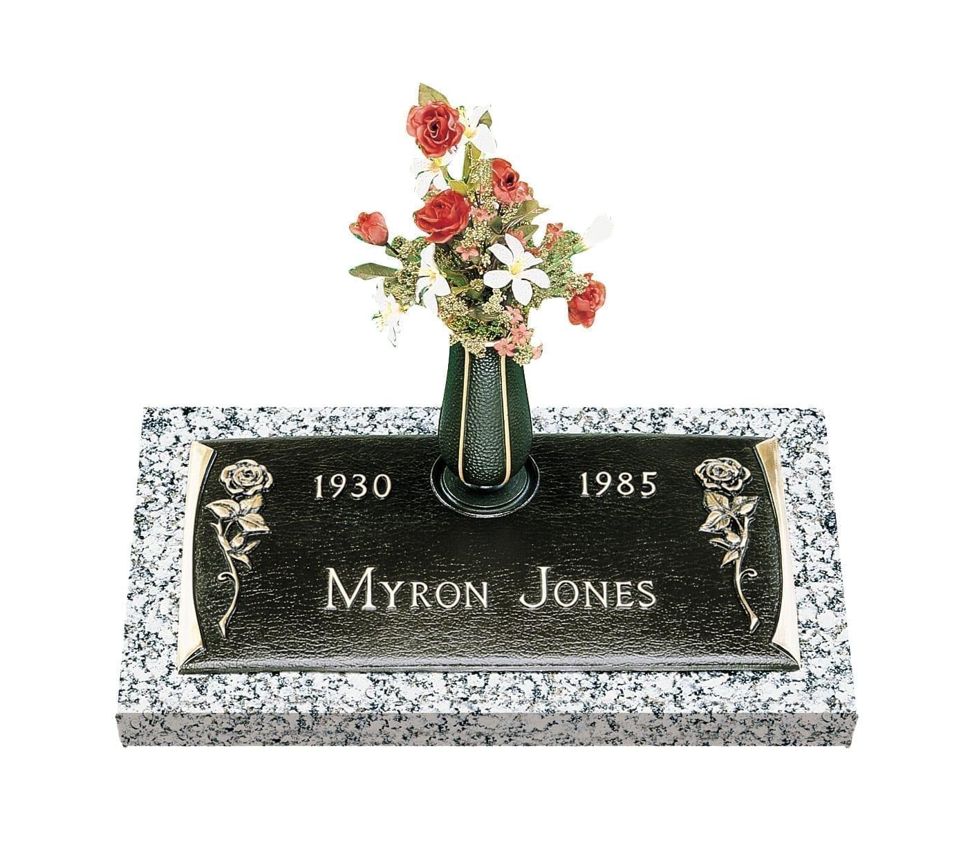 Jose Roses Bronze Gravestone