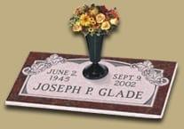 Glade Embellished Flat Gravestone