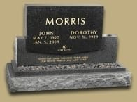 Morris Inscribed Upright Monument