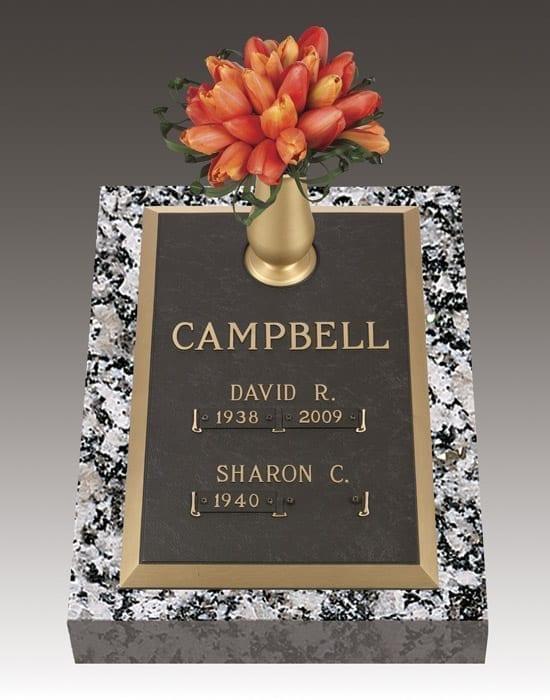 Campbell Companion Bronze Gravestone
