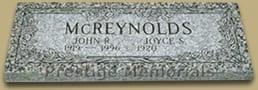 McReynolds Natural Flat Headstone