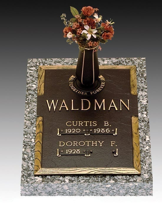 Together Forever Bronze Headstone